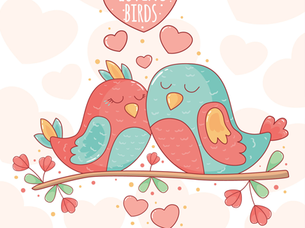 awesome-background-with-cute-birds-together-branch
