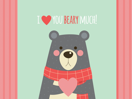 romantic-card-with-cute-bear