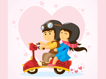 love-couple-on-vespa
