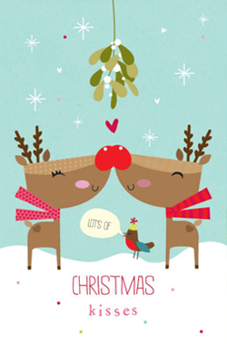 reindeer-kiss-christmas-card