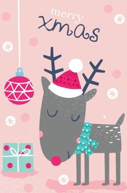 merry-xmas-reindeer-pink