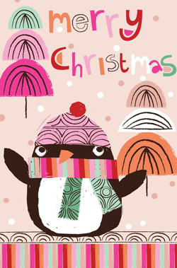 merry-christmas-penguin-pink-card