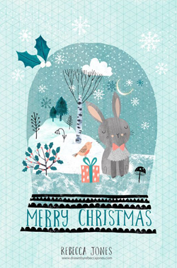 merry-christmas-bunny-blue-christmas-card