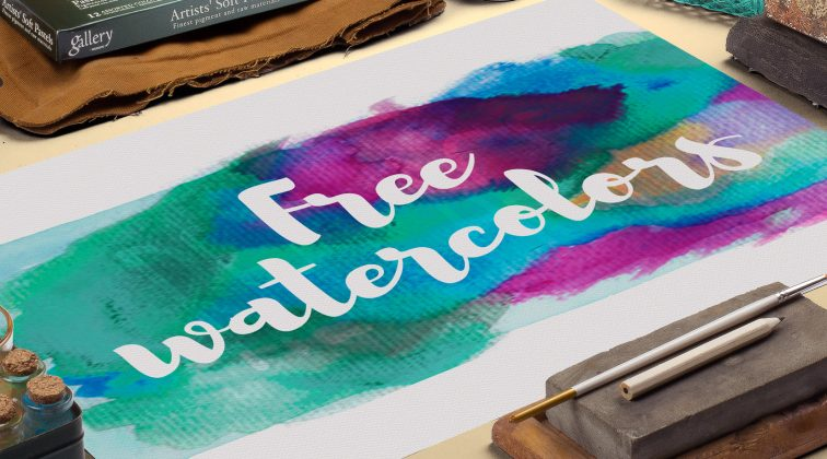 Free Watercolors: Backgrounds, Patterns, Objects, Logos & Мore