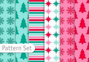 decoratice-christmas-pattern-set-vector