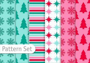 decoratice-christmas-pattern-set-vector