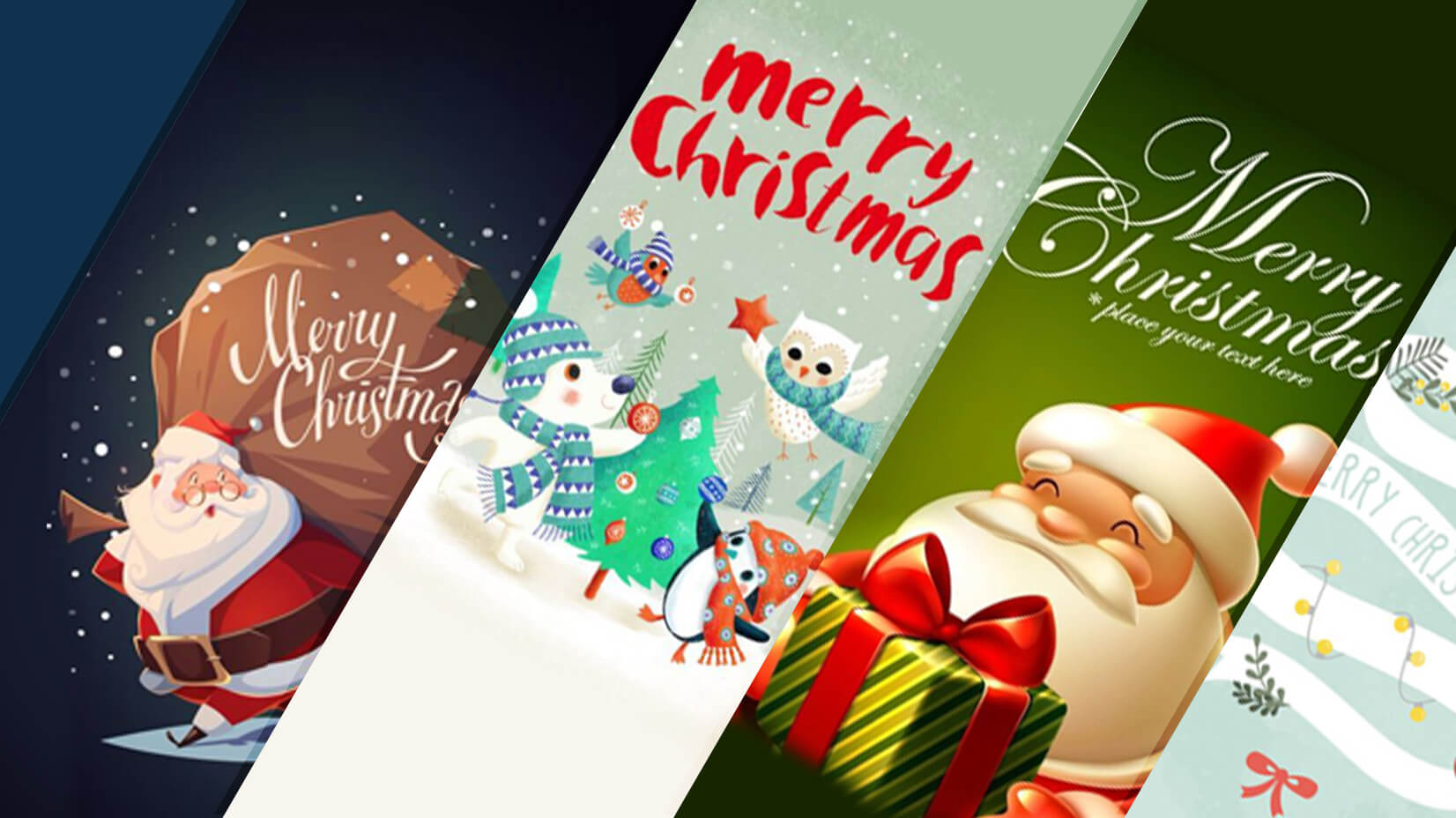 99 Heart-warming Cartoon Christmas Cards | GraphicMama Blog