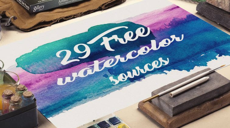 Free Watercolors – Textures, Objects, Logos, Patterns