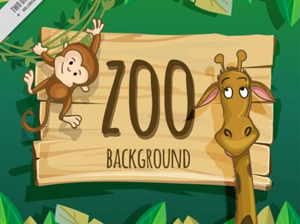nice-giraffe-and-monkey-zoo-background_23-2147553692