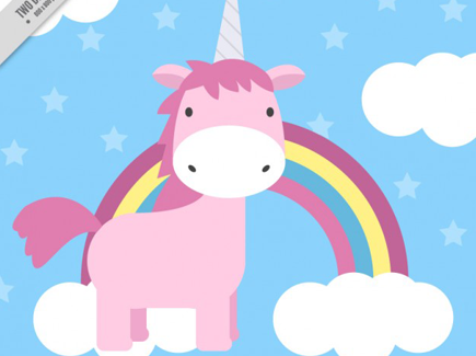 lovely-hand-drawn-pink-unicorn-with-rainbow-and-clouds