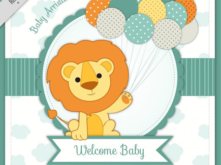baby-arrival-card-with-lion_23-2147553256