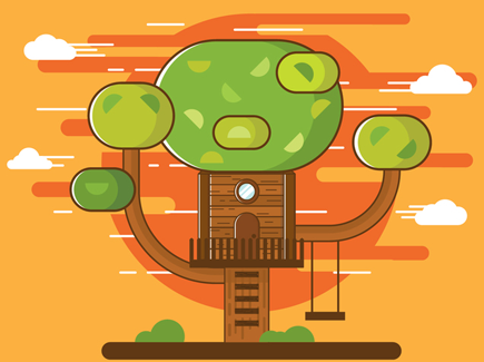 free-illustration-of-cartoon-tree-house-vector