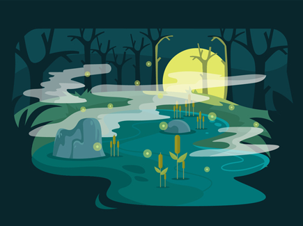 swamp-vector-illustration