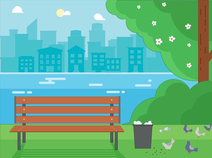free-flat-urban-landscape-vector-background