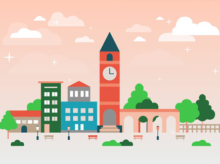 free-flat-urban-landscape-vector-background
