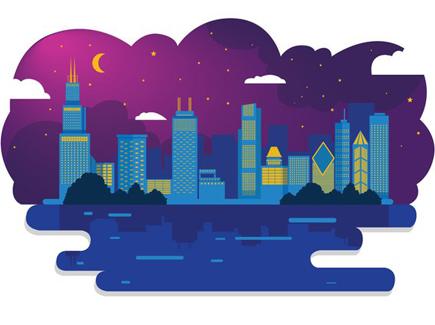 cartoon night vector wallpaper - photo #49