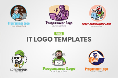Free IT Logo Templates by GraphicMama