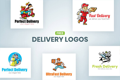 Free Delivery Logo Templates by GraphicMama