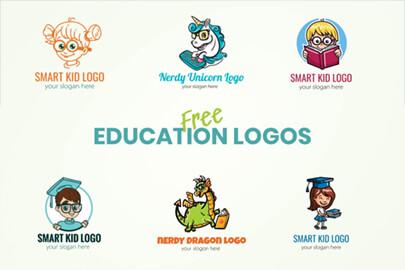 Free Education Logo Templates by GraphicMama