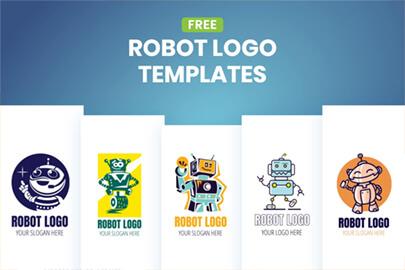 Free Robot Logo Templates by GraphicMama