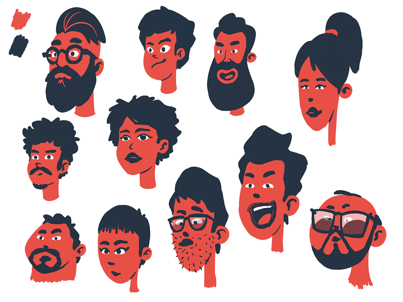 Character Design Styles with Limited Palette