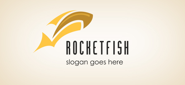 rocket_fish_free-logo-design-templates