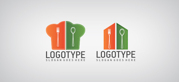 Free logo design templates 100 choices for your company restaurant shapes free logo design templates wajeb
