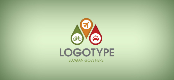 location-pin-free-logo-design-templates