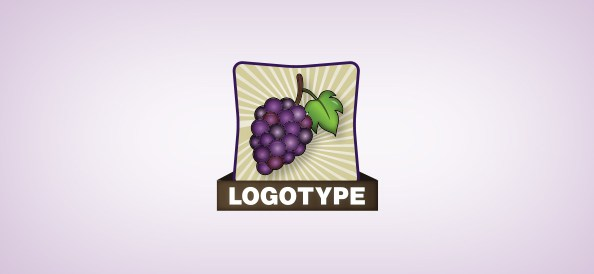 grapes-free-logo-design-templates