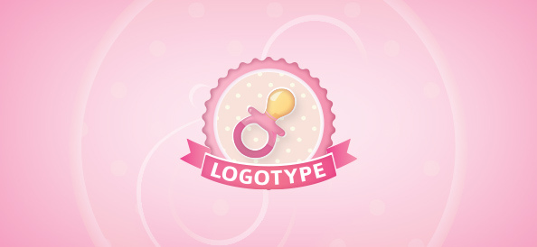baby-pacifier-free-logo-design-templates