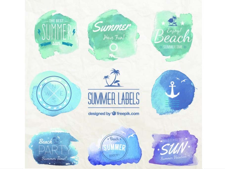 summer-labels-free-watercolors