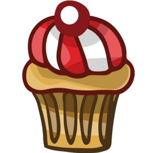 cupcake-with-cherry-vector-image