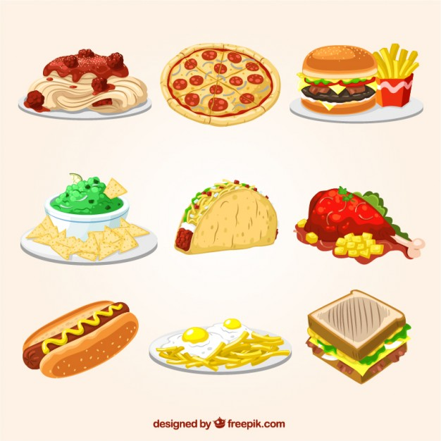 fast-food-illustrations