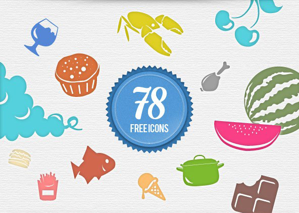 78-free-food-icons-vector