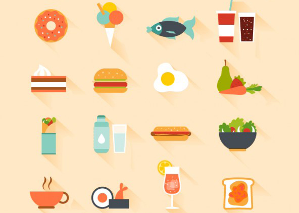 flat-food-icons-freebie-set