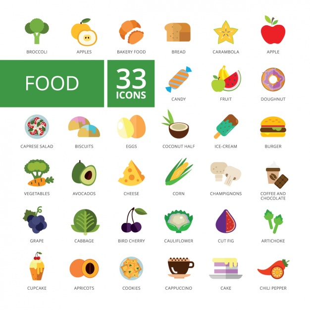food-icons-collection