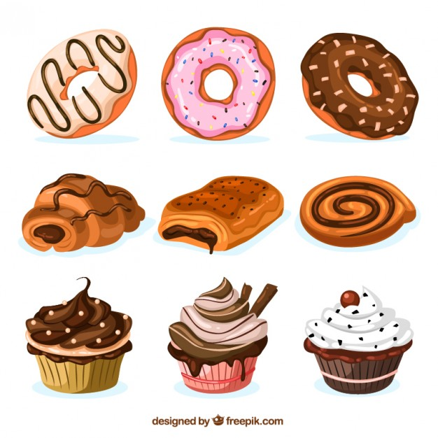 sweets-collection vector images