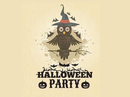 halloween free cartoon flyer template