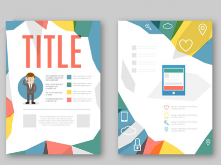 business free cartoon flyer template
