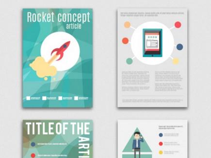 business free cartoon flyer template