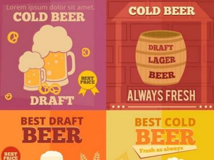 beer free cartoon flyer template