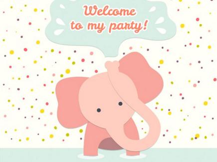 elephant free cartoon flyer template