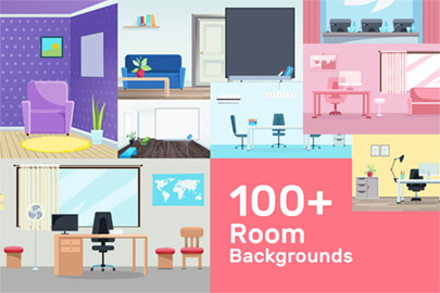 Cartoon Room Backgrounds Collection