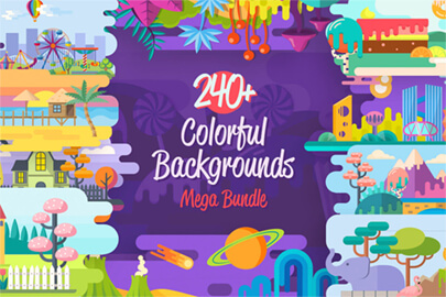 Colorful Cartoon Backgrounds Collection