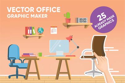 Cartoon Office Background Maker