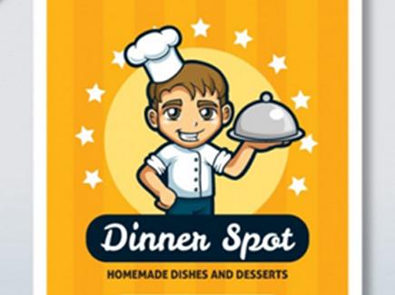 restaurant free cartoon flyer template