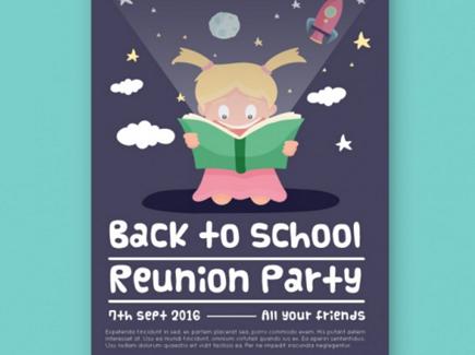 school free cartoon flyer