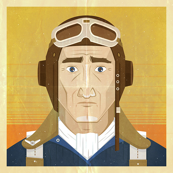 vintage inspired art pilot