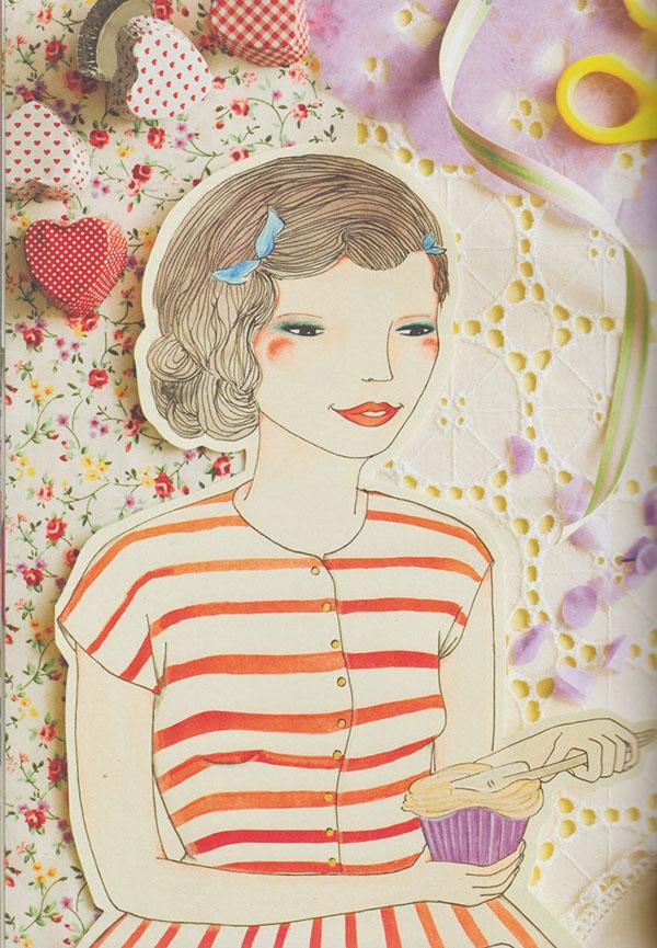 vintage inspired art housewife