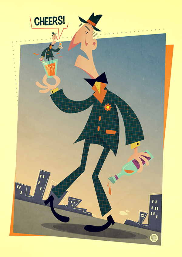vintage inspired art poster
